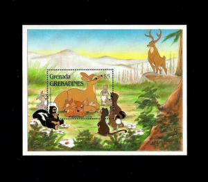 GRENADA - 1988 - DISNEY - BAMBI - FELINE + ANIMAL STORIES - MINT - MNH S/SHEET!