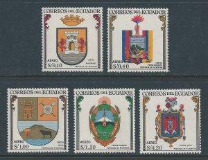 Ecuador #C355-9 NH Coats of Arms 1959-60 Pichincha Province