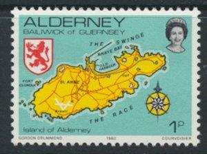 Alderney  SG A1  SC# 1 1983 Definitive  Map     MNH  see scan