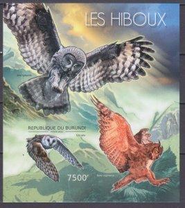2012 Burundi 2812/B286b Birds / Owl 12,00 €