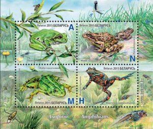 Belarus 2015 frogs animals s/s MNH