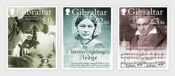 Stamps of Gibraltar 2020.- PRE-ORDER - Birth Anniversaries - Set