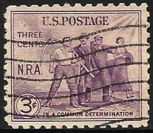 United States 1933 Scott# 732 Used