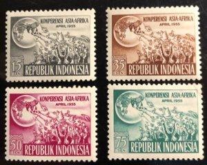Indonesia Scott#402-405 Unused VF LH Cat. $5.55