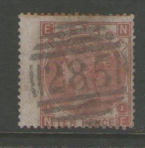 GB 1867 Queen Victoria SG 114 PL1  FU