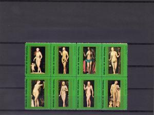 Equatorial Guinea 1976 Nudes Paintings by Cranach Sheetlet (8) Perforated MNH VF