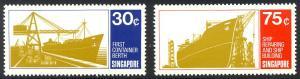 HALF-CAT BRITISH SALE: SINGAPORE #126-28 Mint NH