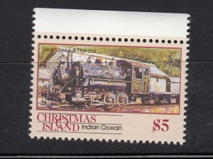 J28376, 1990 christmas island hv of set mnh #269 steam train