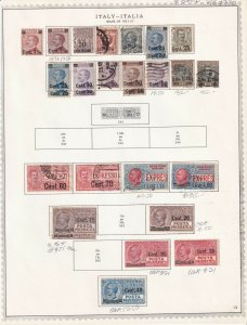 ITALY 2 ALBUM PAGES COLLECTION LOT $330 SCV SPECIALIST ALL APPEAR TO BE SOUND