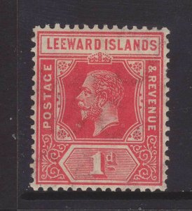 1912 Leeward Is 1d Wmk Mult Crown CA Mounted Mint SG48