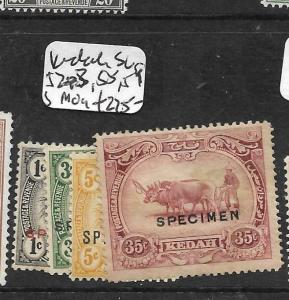 MALAYA KEDAH   (P3012B) SG 52-3, 58-9S SPECIMEN MOG