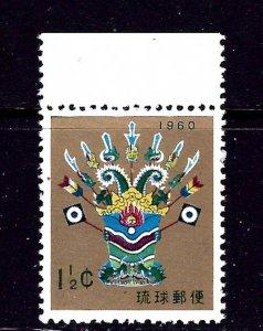 Ryukyu Is 63 MNH 1959 issue