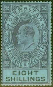 Gibraltar 1903 8s Dull Purple & Black-Blue SG54 Fine & Fresh Lightly Mtd Mint (4