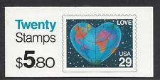 BK188 $5.80 2536a, 29c Love (2) 1991