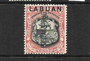 LABUAN   1901  6c POSTAGE  DUE  MLH  SG D5
