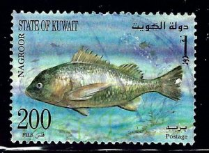 Kuwait 1367 Used 1997 Marine Life    (ap1029)