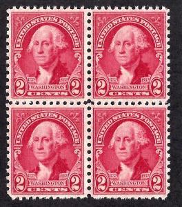 707 Mint,OG,NH... Block of 4... SCV $1.80