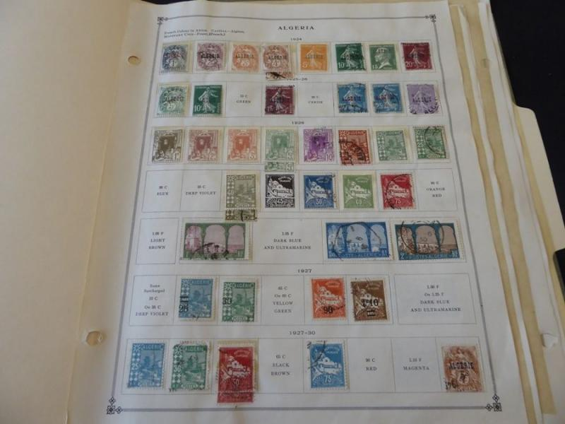 Alaouties & Algeria 1924-1940 Mint/Used Stamp Collection on Scott Int Album Page