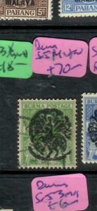 BURMA JAPANESE OCCUPATION (PP1301B) ON KGV1  SG J14  PEACOCK VFU