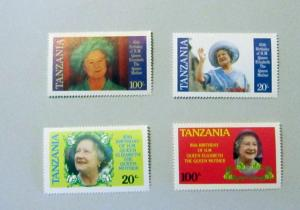 Tanzania - 267-70, MNH Set. Queen Mother - 85th. SCV - $1.00