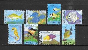 FISH - GRENADA #2350-7  MNH