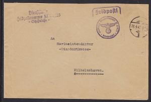 Germany, 1942 Destroyer Z6 Feldpost Cover