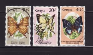 Kenya 438-440 U Insects, Butterflies
