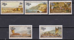 Niue 1978 Scott 214-218a Discovery of Hawaii MLH