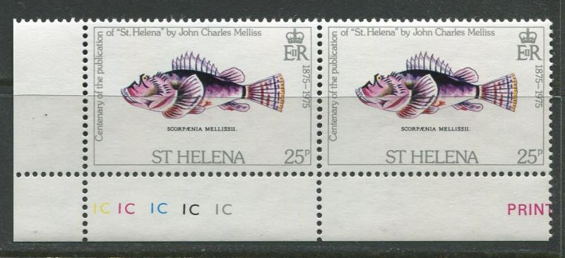 St.Helena - Scott 292 - Centenary Publication -1975 - MNH - Pair of 25p Stamps