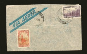 Argentina 443-444 on PM 1950 Airmail Cover to Canada Used