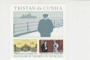 Tristan da Cunha Centenary Birth Sir Winston Churchill MNH Stamps Sheet Ref27134