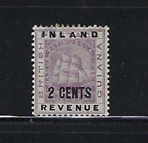 BRITISH GUIANA SCOTT #113 1889 2 CENTS  OVERPRINT- MINT LIGHT HINGED