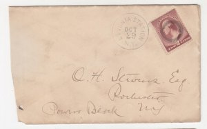 UNITED STATES, c1887 cover,Washington 2c. Brown, Livonia Station,NY to Rochester