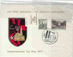 austria  1977 stamps cover ref 19269