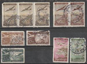 C17,C18,C21,C20,C38,C39,C50 Yugoslavia Used Air Post