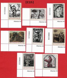 [E28]- Albania 2018. Grafic's  Art, 8 values, MNH