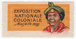 (I.B) France Cinderella : Exposition Coloniale (Marseille 1922)