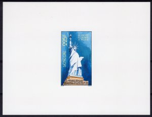 Senegal 1986 Sc# 700  Statue Liberty Centenary Deluxe Souvenir Sheet (1) MNH