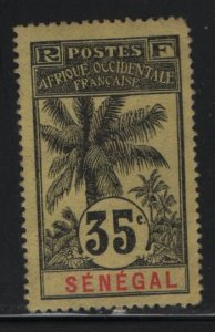 SENEGAL, 66, HINGED, 1906, STAMPS OF 1892 SURCHARGED