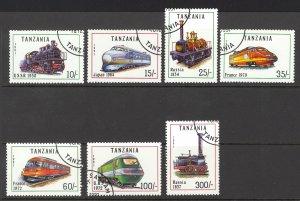 Tanzania Sc# 800-806 Used 1991 Locomotives