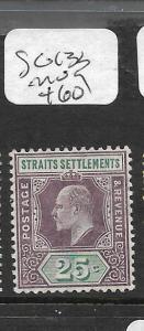 MALAYA STRAITS SETTLEMENTS (PP1201B) KE  25C SG 133   MOG