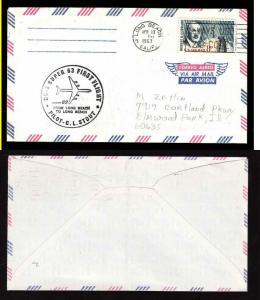 USA-#8723-First Flight Super 63-Long Beach, Calif-Apr 10 1967-