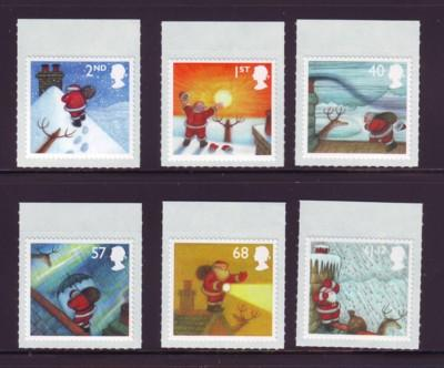 Great Britain Sc 2245-50 2004 Christmas stamp set mint NH