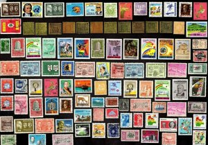 100 ALL DIFFERENT BOLIVIA STAMPS (LOT 2)