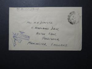 Great Britain 1943 RAF Censor Cover / Egypt APO / Censor - Z12286