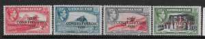 GIBRALTAR SG140/3 1950 NEW CONSTITUTION SET MTD MINT