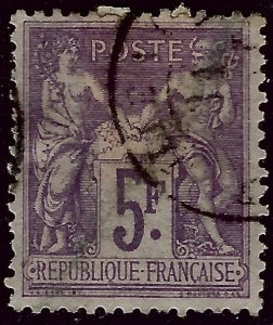 France Sc #96 Used VF $70...French Stamps are Iconic!