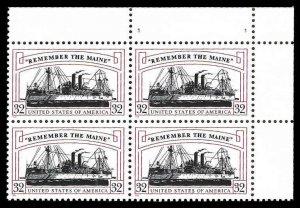 PCBstamps    US #3192 PB $1.28(4x32c)Remember/Maine, MNH, (PB-2)