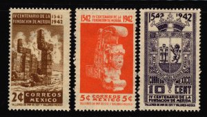 Mexico 1942 Founding of Merida Stamp Short Set 3 Stamps Scott 768-770 MNH