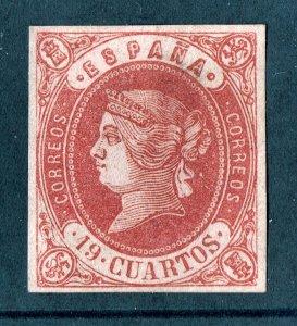 [mag245] SPAIN 1862 Scott#58a mint no gum 19 CUARTOS